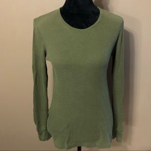 GAP Army green thermal long sleeve shirt L
